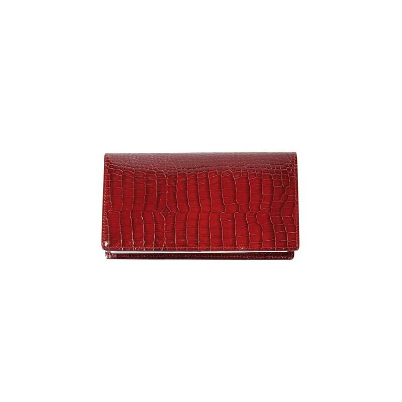 1fff22f7e743 Porte chéquier Mignon croco savannah rouge