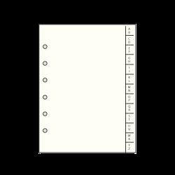 RK 17 R Recharge rép. avec index alphabétique