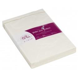 20 enveloppes C6 Vélin coton blanc