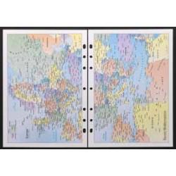 Recharge notes 4341 cartographie pour Agenda Moderne 20 cm