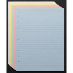 Recharge notes 4331 assorties 50F. réglées pour Agenda Moderne 20 cm