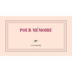 Bloc-notes à l'italienne «Pour mémoire» Gallimard