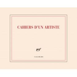 Carnet de dessin «cahier d'un artiste» Gallimard